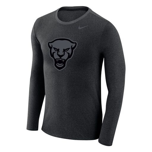Image For Nike Long Sleeve Tshirt Men's Tonal Panther Head - Charcoal