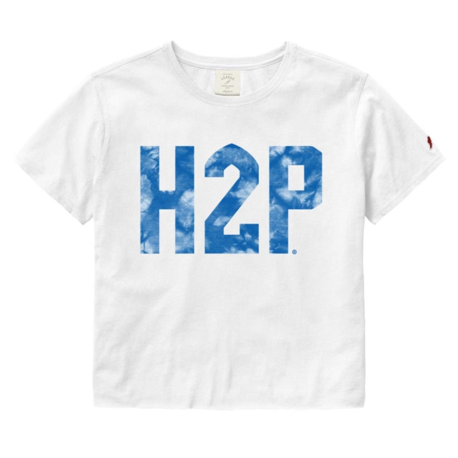 Image For League Women's Short Sleeve Crop H2P - White