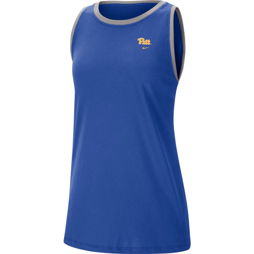 Image For Nike Women's Tank Script Front Panther Head Back