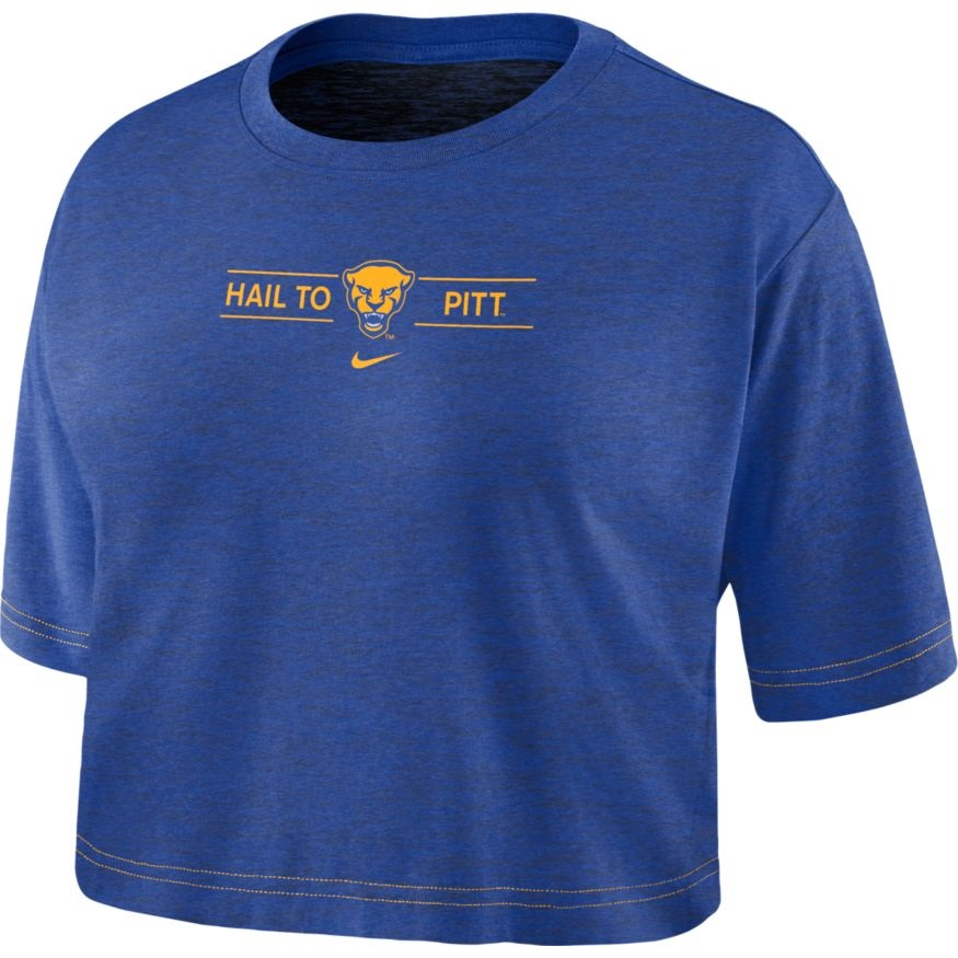 Image For Nike Women's T-Shirt Crop Hail To Pitt Panther Head