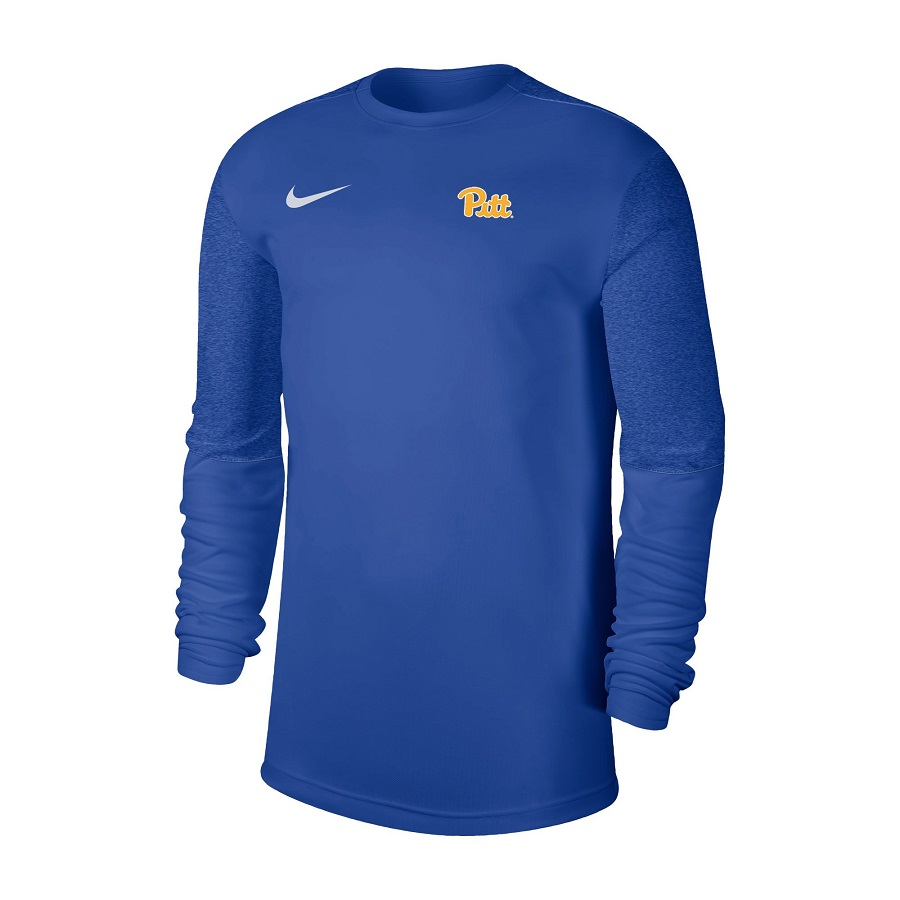 Image For Nike Long Sleeve Pitt Script Shirt-Royal