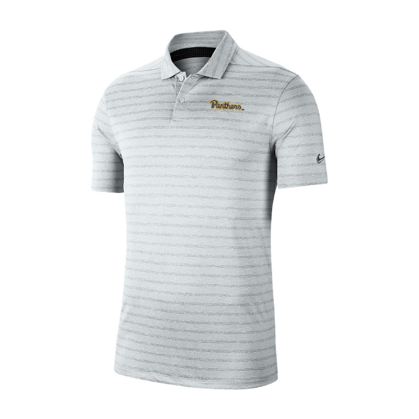 Image For Nike Polo Men's Vapor Stripe Panther Script