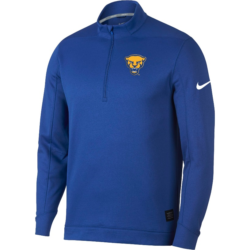 Image For Nike 1/4 Zip Pullover Fleece Men's Panther Head - Royal