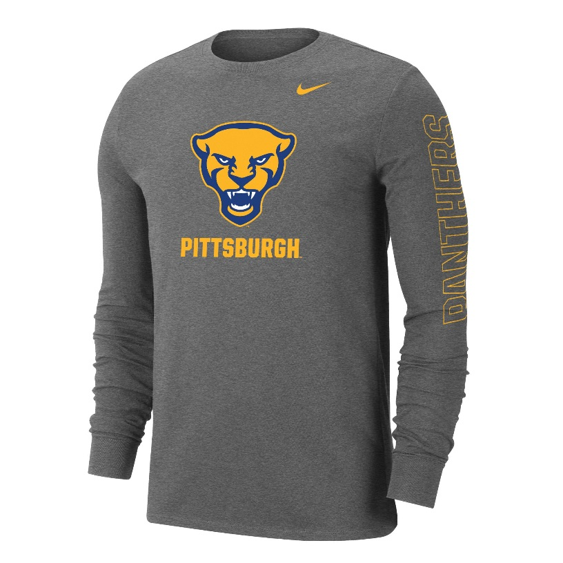 Image For Nike Long Sleeve Shirt Panther Head - Grey