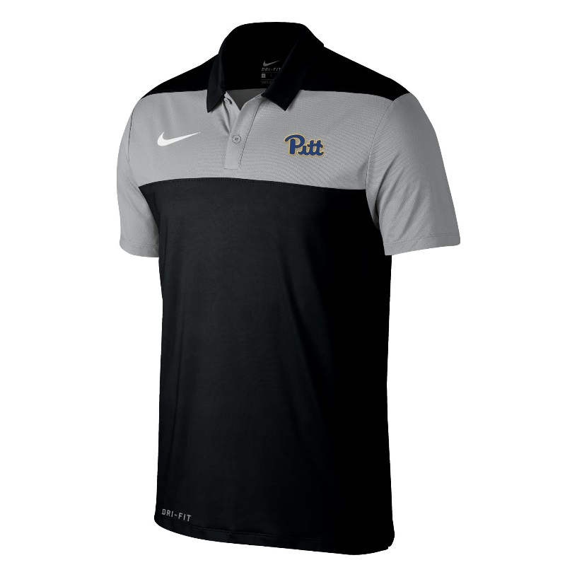 Image For Nike Polo Men's Color Block Pitt Script - Black/Grey