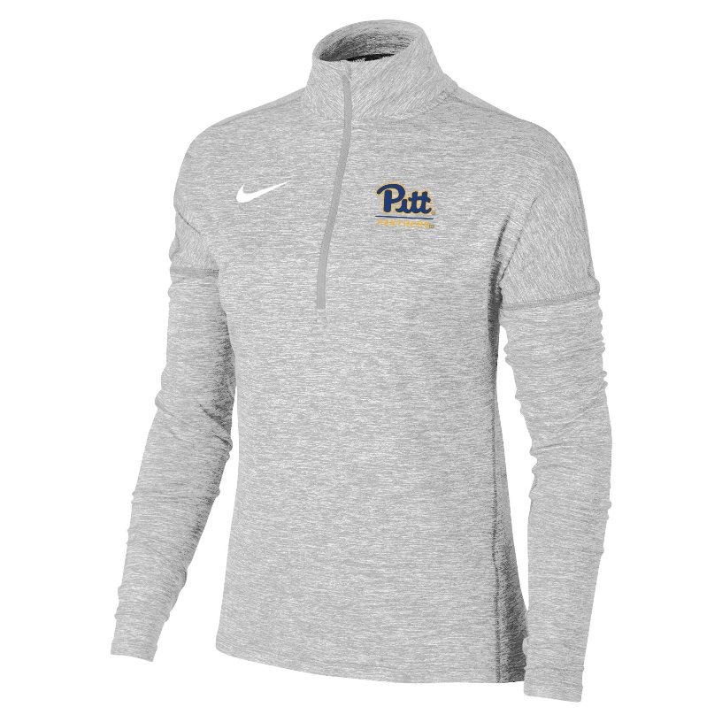 Image For Nike Women's 1/4 Zip Dri Element - Heather Grey