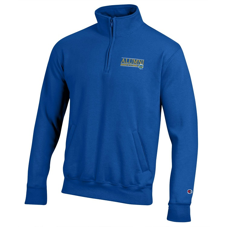 Cover Image For Champion 1/4 Zip Adult Alumni Sweatshirt-Royal