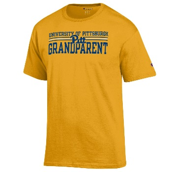Image For Champion Adult T-Shirt University Of Pittsburgh Grandparen
