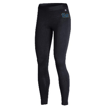 Image For Champion Women's Leggings Pitt Script - Black