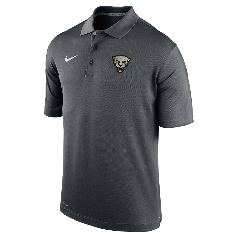 Cover Image For Nike Polo Men's Alternative Uniform Panther Head - Grey
