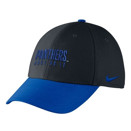 Cover Image For Nike Adult's Swoosh Flex Hat Panthers Just Do It Hat - Black