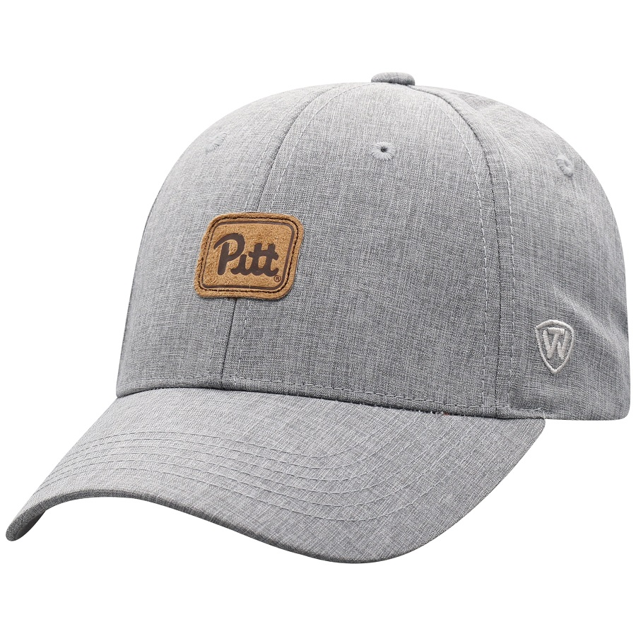 Cover Image For Top Of the World  Adult's Pitt Script Baseball Hat-Grey