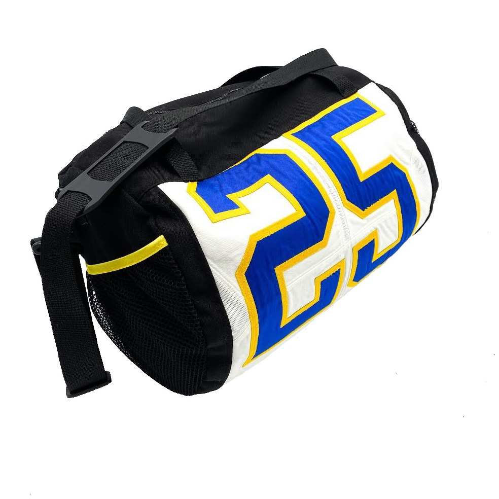 Image For 100% Upcycled Pitt Jersey Duffle - Royal or White